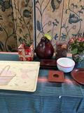 9 pieces. Assorted items. Creation Alpac Tray approximately 18