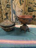 Decorative items. Round deco with lid Approximately 13