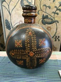 """Moroccan style 19"""" x 14"""" decorative container with lid"""