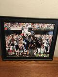Framed, signed, LaDainian Tomlinson picture. Certificate of Authenticity in the back see pic