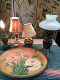 Vintage lamps. 3 with shades. 2) 13