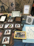 Lot. Assorted picture frames and wall deco