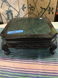 """Wood frame, marble top stand. approximately 5"""" x 12"""""""