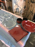 1) Anchor 3) Pyrex pie dishes and Japan dishes