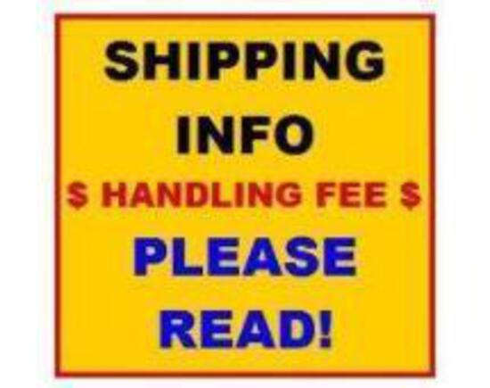 **** Shipping Information. Do not bid on this item****