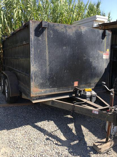 6' x 12' Dump Trailer WORKING Front panel damaged