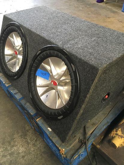 Kicker CVR speaker with Autotek Mean Machine M1600.2 amplifier