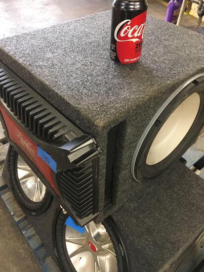 Infinity speaker with Xplod 1200W power amplifier