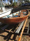 14½' Dory all HANDMADE wooden Sailboat, accessories and dolly only. No Trailer