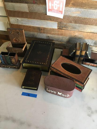 Lot of Assorted decorative storage containers