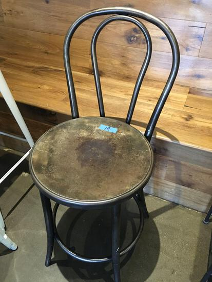 "Metal chair 24"" tall"