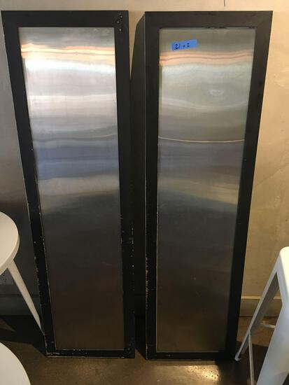 """Wall decoration stainless steel panels. 60"""" x 17"""" Both sides have the same look."""