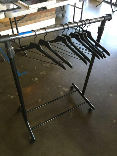 Rolling rack and hangers
