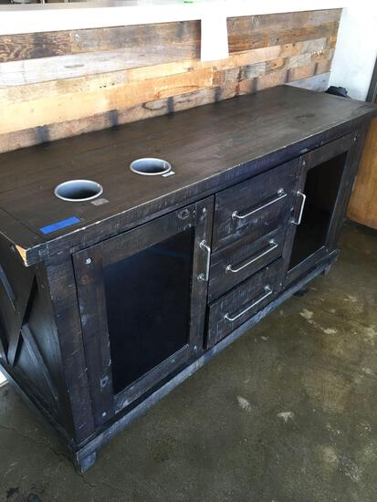 "3 drawer Condiment cabinet / station  34"" x 65"" x 20"""