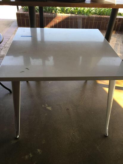 "Square Metal Dining table  30"" x 36"""