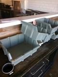 7 pieces. Assorted size Storage bins