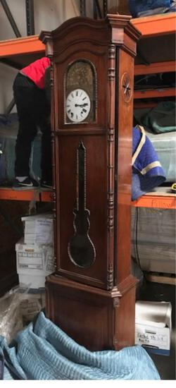 French Morbier Clock mounted in a later Mahogany case.