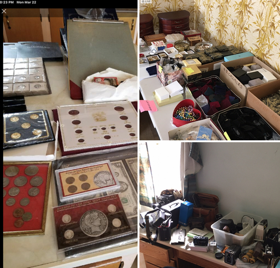 Coins, Camera's, Jewelry, Watches  WITH NO RESERVE