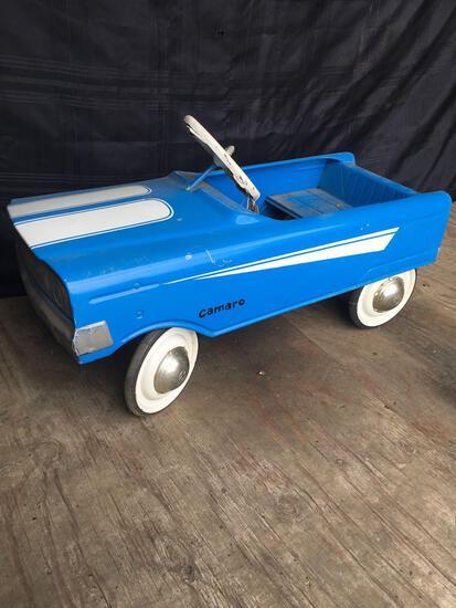 Vintage Jeep Metal Pedal Car.