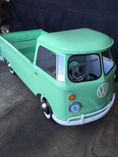 Vintage VW Truck Exc. Condition Metal Pedal Car