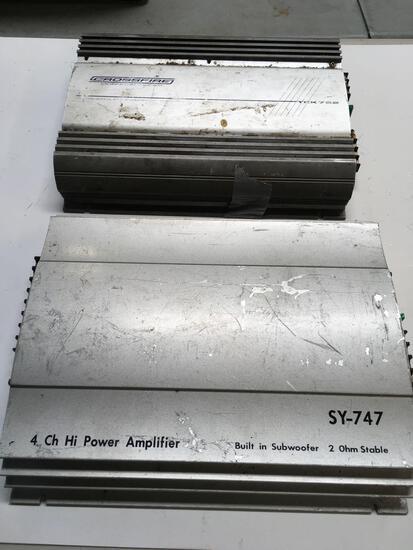 Amplifiers. Crossfire TCK752 & SY-747