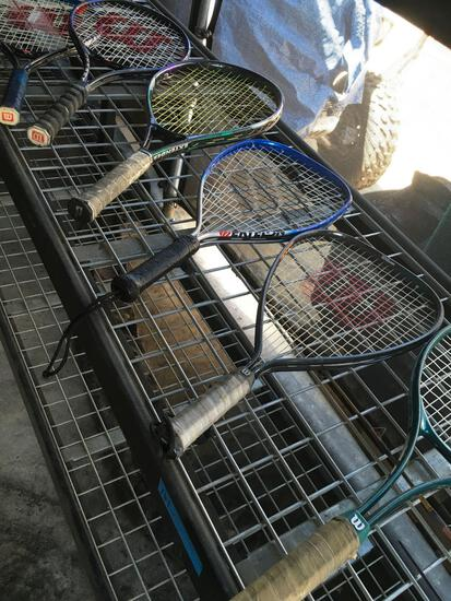 6 pieces. Assorted racquets