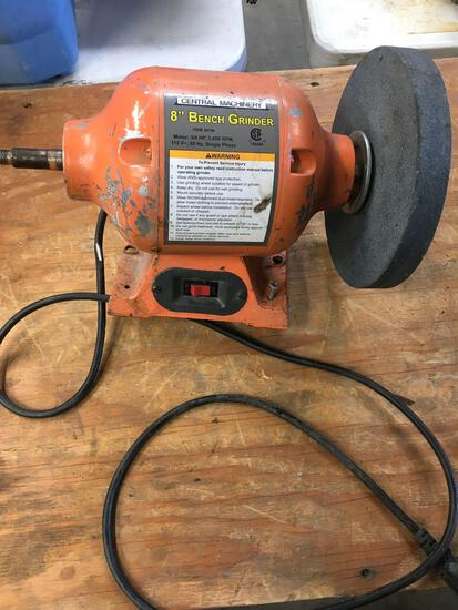 "Central Machinery 8"" bench grinder. Works"