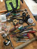 Ryobi bag and grouping of assorted tools