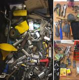 Grouping of assorted tools Sockets, Wrenches etc.