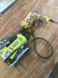 Ryobi JS481LG Jig Saw & Dewalt drill. Both worked