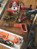 Grouping of Power Tools - AS-IS - 8 pieces Untested, NEED BATTERIES