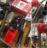 Grouping of assorted Hammers, First Aid, Hard hat, Tools & Misc. items