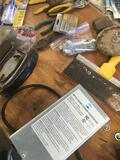 Grouping of assorted Pliers, Saw blades, Cutter, Converter, & Misc. tools