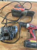 Black & Decker sander, Roto Zip Spiral Saw, Hyper Tough 18V drill All work