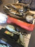 Group of assorted Camping Gear, Tent, Heater, Chair etc.