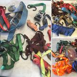 Grouping of assorted Tie Down straps & strap ends. 20 pieces