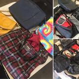 Group of assorted Hand bags, Fanny packs, Lap top bags, etc. 15 pieces
