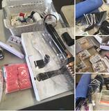 Housewares, Assorted Sewing items, Hair Tools