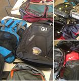 Group of assorted Back packs, & Gym bags 9 pieces