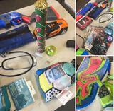 Toys, Comic Books, Boogie board, Flotation vest, & Misc. items
