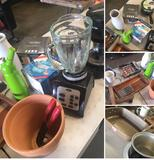 Housewares New & Used Kitchen items / Gardening items. Coffee maker & Blender turned on