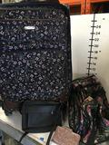 4 pieces. Chaps rolling luggage, Mew York Express bag, hand bag & wallet bag