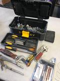 Stanley tool box and assorted tools