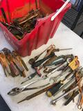 Grouping of assorted tools with Recycle basket