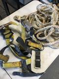 Harness and rope with Lanyard