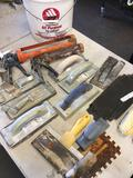 Wespac bucket and assorted painters tools