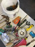 Grouping of assorted tools and bucket