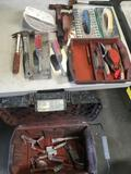 Dewalt rolling tool box with painters accessories & tools