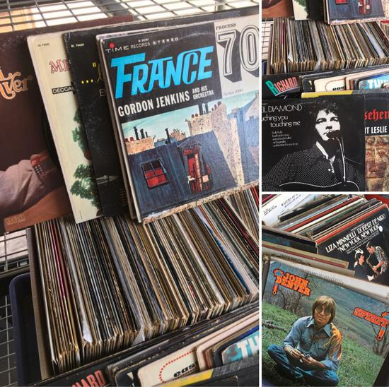 Vintage assorted Vinyl records, 158 records