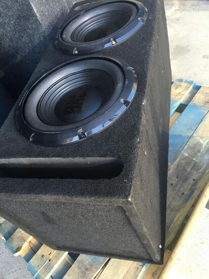 Alpine Bass dual car speakers with enclosure